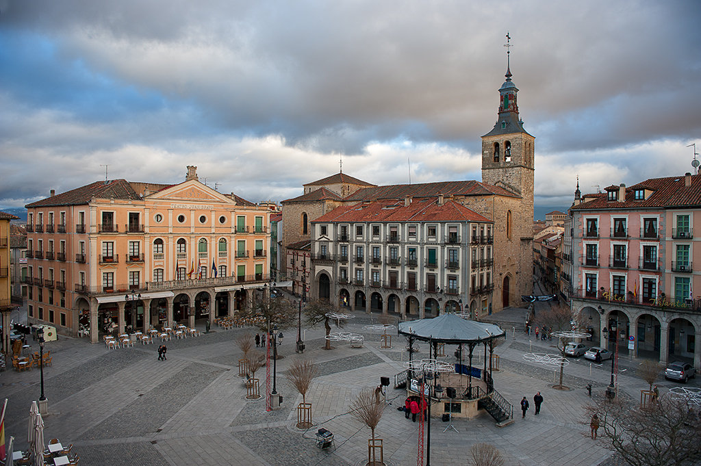 Segovia. Vista de su Plaza Mayor